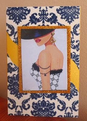 Картичка Модна дива -2
