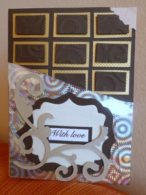 Картичка шоколад