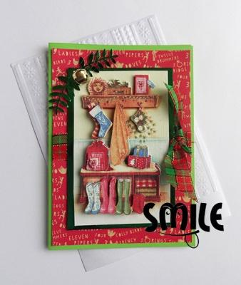 Картичка Коледа у дома