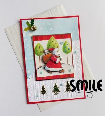 Картичка Дядо Коледа пътува