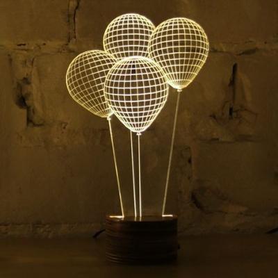 3D лампи: балони и рози.