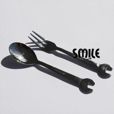 Комплект десертни виличка и лъжичка - гаечен ключ