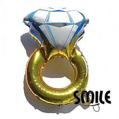 Голям фолиев балон - годежен пръстен