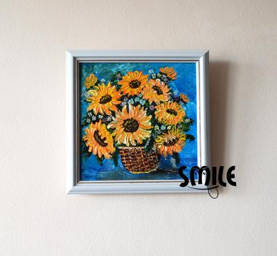 Картина Ваза със слънчогледи