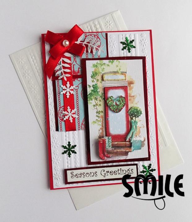 Картичка Коледни чорапи