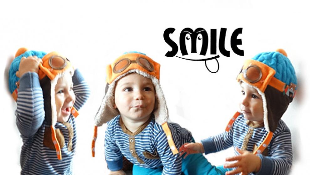 Зимна детска шапка - авиатор