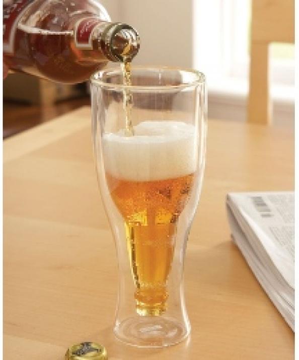 Чаша с двойни стени - бирена бутилка