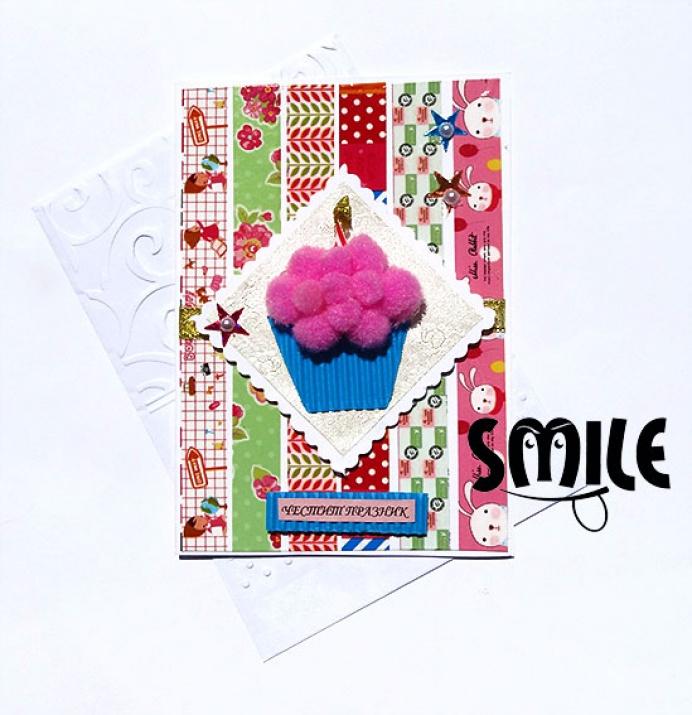 Картички с кексчета, мъфини или балони