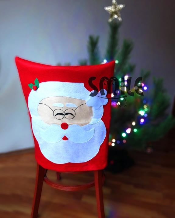 Калъф за стол Усмихнат дядо Коледа