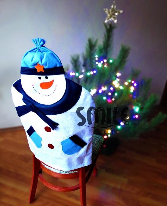 Калъф за стол Снежен човек