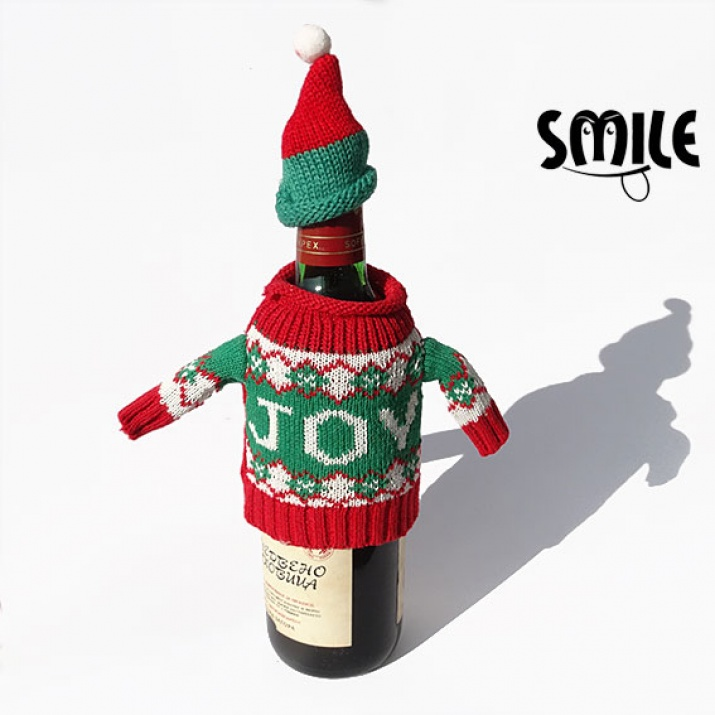 Коледно облекло за бутилка вино