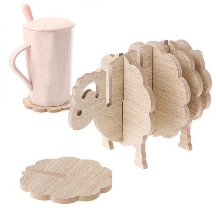 Дървени поставки за чаши
