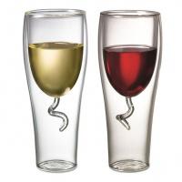 Чашa с двойни стени - тип тирбушон (за вино)