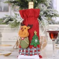 Ленен Коледен калъф за бутилка
