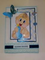Картички бебе с биберон