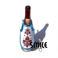 Престилки за вино с бродирани народни шевици