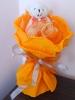 Букети от едно мече с папионка - оранжев