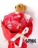 Букети от мечета за Свети Валентин - червен