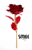 Позлатена роза - червена