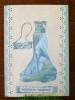 Картичка: Модна дива - светло синя