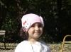 Розова шапка с къдрички