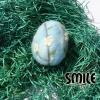 Плъстено яйце цъфнало дръвче - 7 см
