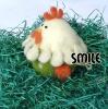 Плъстено яйце кокошка - 10 см
