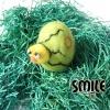 Плъстено яйце измътено пиле - 7 см
